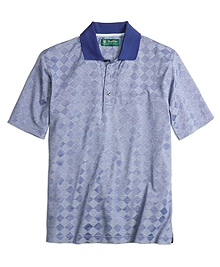St. Andrews Links Textured Diamond Polo