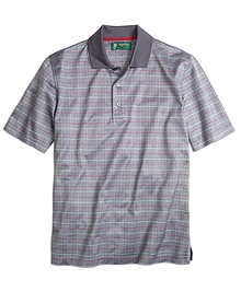 St. Andrews Links Windowpane Polo Shirt