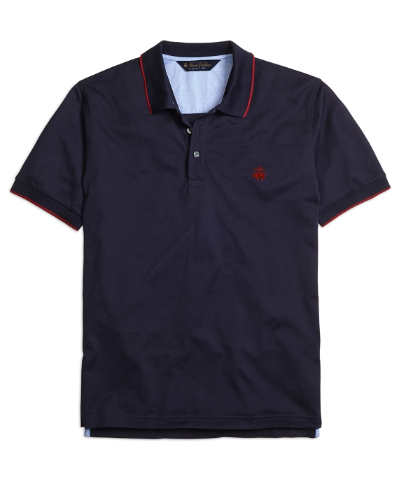 Original Fit Tipped Polo Shirt Navy
