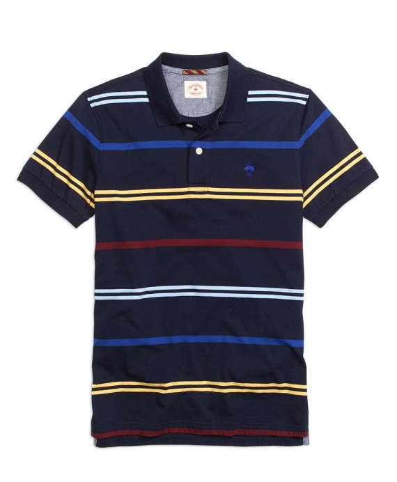 Multistripe Polo Shirt Navy