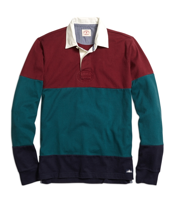 Color-Block Rugby Shirt Burgundy