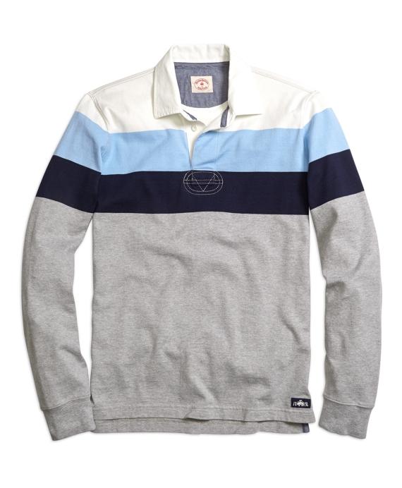 Multistripe Rugby Shirt Grey