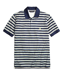 Original Fit Variegated Multistripe Polo Shirt