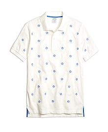 Slim Fit Hibiscus Print Polo Shirt
