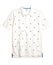 Original Fit Hibiscus Print Polo Shirt