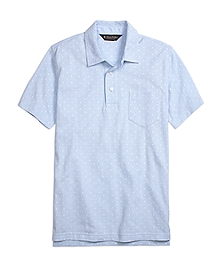 Slim Fit Mini Print Polo Shirt