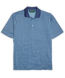 St Andrews Links Gingham Polo Shirt