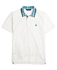 Original Fit Madras Collar Polo Shirt