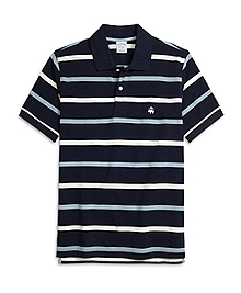 Slim Fit Multistripe Polo Shirt