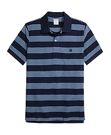 Slim Fit Wide Bar Stripe Polo Shirt