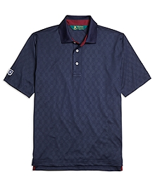 St Andrews Links Embossed Polo Shirt