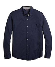 Button-Down Knit Shirt
