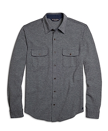 Slim Fit Flap Pocket Button-Down Shirt
