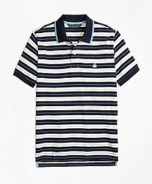 Slim Fit Tipped Collar Stripe Polo Shirt