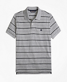 Slim Fit Undercollar Detail Stripe Polo Shirt