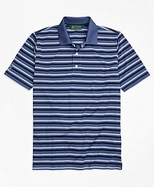 St. Andrews Links Pique Stripe Golf Polo Shirt