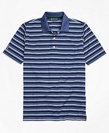 St. Andrews Links Pique Stripe Golf Polo Shirt