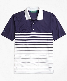 St. Andrews Links Fade Stripe Golf Polo Shirt