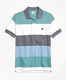 Slim Fit Engineered Wide Stripe Polo