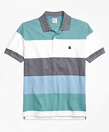 Original Fit Engineered Wide Stripe Polo