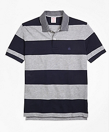 Original Fit Engineered Rugby Stripe Polo Shirt