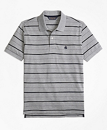 Original Fit Undercollar Detail Stripe Polo Shirt