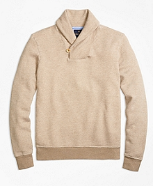Bird's-Eye Shawl Collar Fleece
