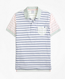 Slim Fit Oxford Stripe Fun Polo Shirt