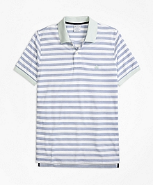 Slim Fit Oxford Stripe Polo Shirt
