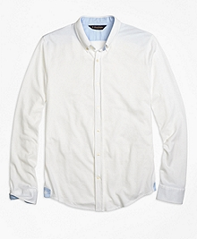 Oxford Knit Button-Down Shirt