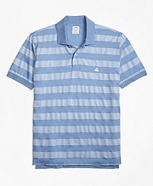 Slim Fit Textured Stripe Polo Shirt