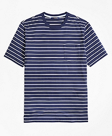 Supima® Cotton Stripe Tee Shirt