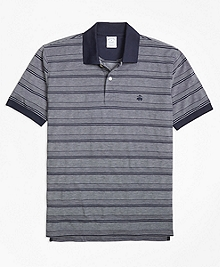 Textured Multi Stripe Polo Shirt