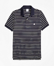 Slim Fit Two-Color Stripe Polo Shirt