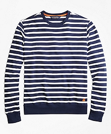 French Terry Breton Stripe Crewneck