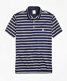 Slim Fit Bar Stripe Performance Polo Shirt