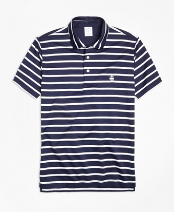 Slim Fit Bar Stripe Performance Polo Shirt