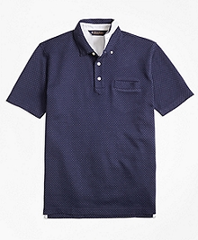 Slim Fit Bird's-Eye Jacquard Polo Shirt