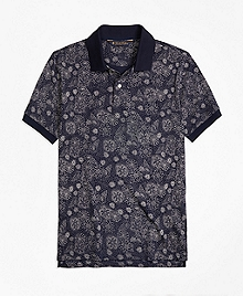 Slim Fit Shell Print Polo Shirt