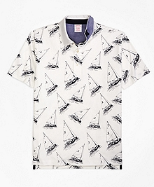 Original Fit Paul Brown Boat Print Polo Shirt