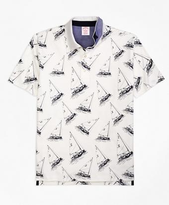 Original Fit Paul Brown Boat Print Polo Shirt