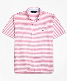 Original Fit Stripe Self Collar Polo Shirt