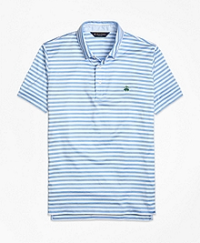 Slim Fit Stripe Self Collar Polo Shirt