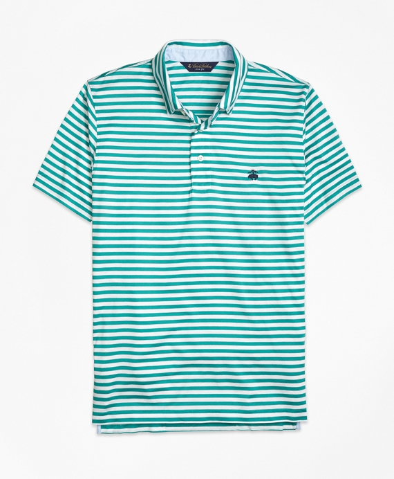 Slim Fit Stripe Self Collar Polo Shirt