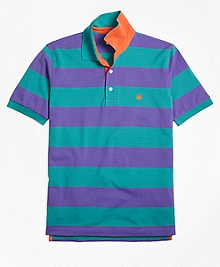 Original Fit Bright Rugby Stripe Performance Polo Shirt