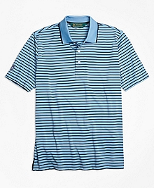 St Andrews Links Bar Stripe Golf Polo Shirt