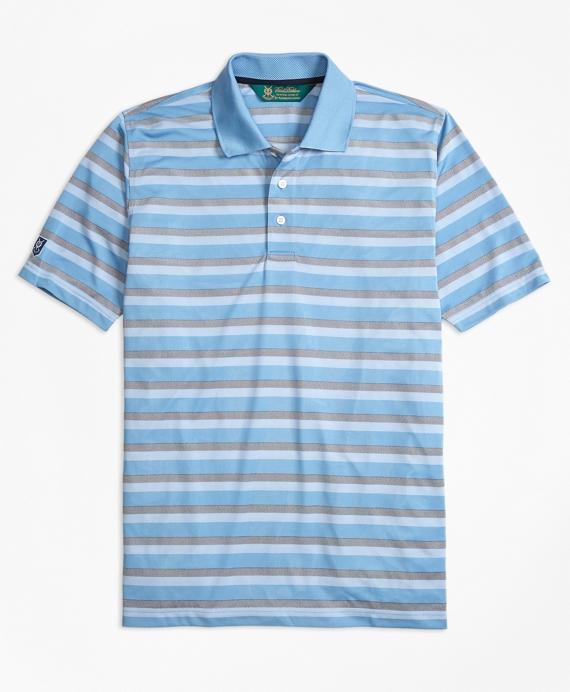 St Andrews Links Bird's-Eye Stripe Golf Polo Shirt
