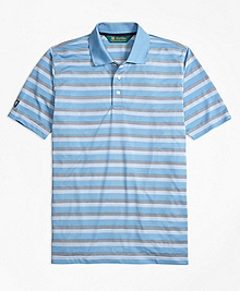St Andrews Links Bird's-Eye Stripe Golf Polo Shirt