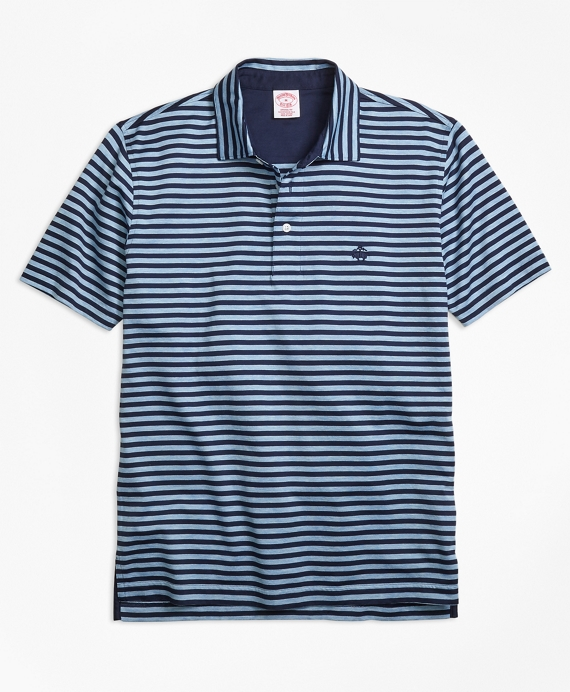 Original Fit Even Stripe Performance Polo Shirt Blue