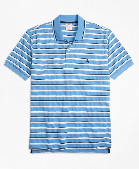 Original Fit Multi-Texture Stripe Polo Shirt